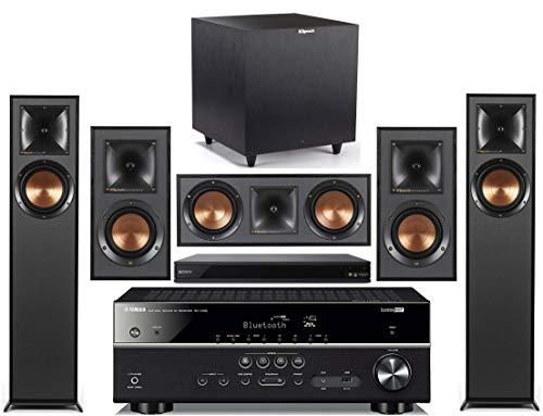yamaha home audio receivers Yamaha 5.1-Channel Wireless Bluetooth 4K 3D A/V Surround Sound Receiver + Klipsch Multimedia Home Theater Speaker System (Bundle)