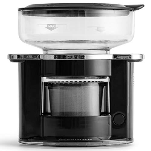 PHTW Kaffeevollautomat, Drip Dreh Kaffeemaschine Verwendung Hoher Spezifikation Metallfilter Geeignet Für Home-Office Im Freien [Energieklasse A],Schwarz