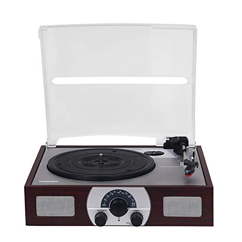 Lefang Retro Portableentry Vinyl Record Player Vintage LP Record Player Retro Vinyl Record Player Bluetooth Playback 33, 45, 78 RPM Play USB Transcription Automatische Stop