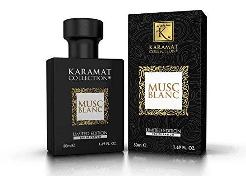 Musc Blanc Karamat Parfum 50ml (amber, orientalisch, arabisch, oud, misk, moschus, natural perfume, adlerholz, ätherisch, attar scent)