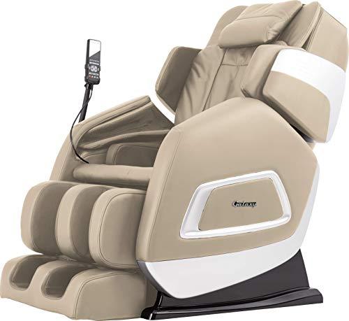 Galaxy Aria 6 Full Body Massage FDA Massage Chair Backrest Heating Airbag Massage Advanced Kneading, Tapping, Pressing, Knocking and Shiatsu Best Massage Chairs … (Cream)