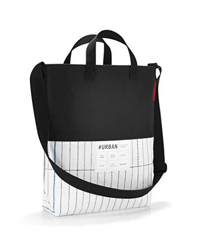 reisenthel urban shoulderbag london black white 34 x 37 x 10 cm