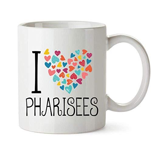 Ich liebe Pharisäer Bunte Herzen Becher 11 Unzen