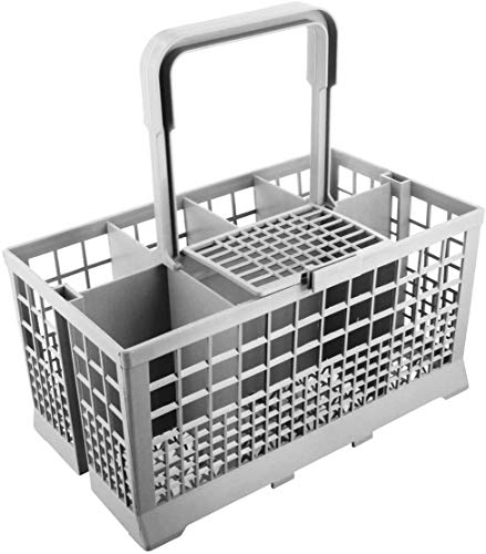 ABC Products Replacement Universal Grey Cutlery Cage Basket suits all makes including Bosch, Hotpoint, Neff, Smeg Dishwasher 24 cm x 13.5 cm x 12.5 cm