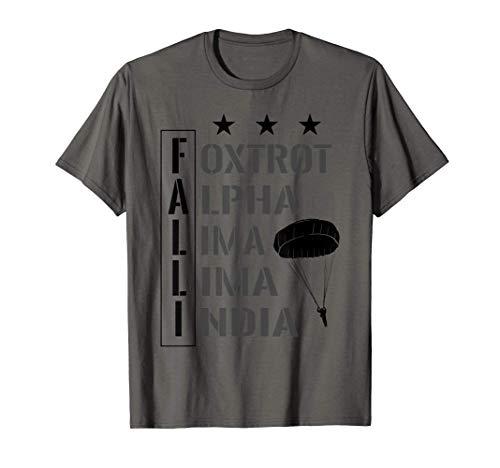 Fallschirmjäger Nato Alphabet Bundeswehr Falli Springer T-Shirt