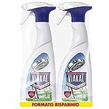 VIAKAL Detersivo Anticalcare Spray Igienizzante, Maxi Formato 2 Pezzi da 700 ml