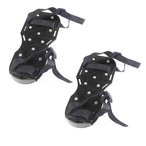Donpow gazonbeluchter schoenen met robuuste zool met 2 verstelbare riemen, ideaal voor gazon of terrassen, comfortabel tuingereedschap voor vloeren (zwart) blue