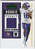 Justin Jefferson 2020 Panini Contenders Rookie Ticket Swatches Rookie Jersey Card Minnesota Vikings. rookie card picture
