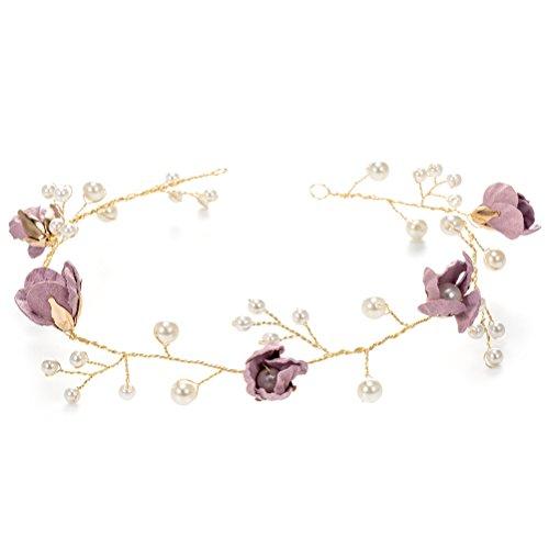 BESTOYARD Blumen Mädchen Kronen Haarband perlen Haarreifen Haar-Reben Hochzeit Braut Kopfschmuck