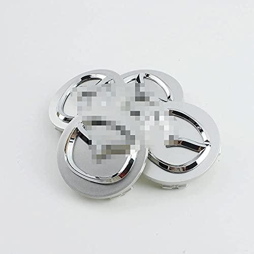 Tapas de cubo de centro de rueda de 4 piezas para borde cromado Mazda de la etiqueta del logotipo de la etiqueta, aleación
