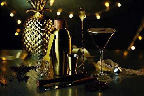 Kitchen Craft Cocktailzubehör-Set Bar Craf mit Messingausführung in Gold 6-teilig, Messing, 12 x 17 x 22 cm, 6-Einheiten - 5