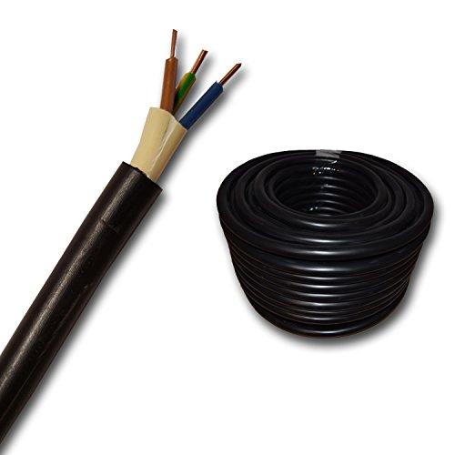 Erdkabel NYY-J 3x2,5 mm² (mm2) Meterware auf den Meter genau: Starkstromkabel - PVC Erdleitung schwarz - KOSTENLOSER VERSAND - Auswahl in 1 Meter Schritten - Beispiel: 20 m - 25 m - 35 m - 50 m usw.