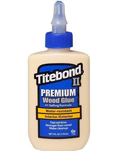 Titebond II Premium–Colla per legno, colla legno impermeabile per uso professionale, dimensioni: 118ml, 1pezzo, 500–2