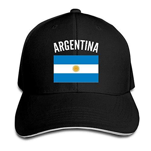 Tttyy Vintage Argentina Bandera Argentina Sombrero de béisbol Ajustable Sombreros de papá Sombrero de Camionero Gorra de Visera Sandwich