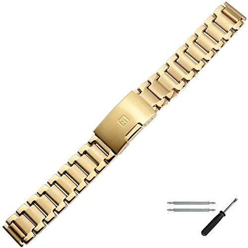 MARBURGER Uhrenarmband 16mm Edelstahl Gold - Werkzeug Montage Set 89508120020