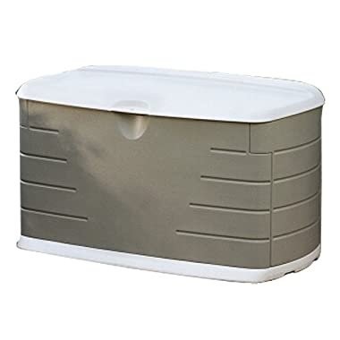 Rubbermaid Outdoor Deck Box With Seat, Medium, 46  L x 24  W x 24  H (2047053)