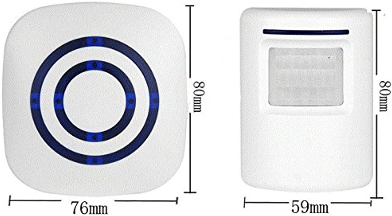 Doorbells  1pcs Visitor Doorbell Wireless Store Shop Welcome Sensor Entry Alarm Door Bell Plug  Shape Alexander Buzzer Campana Graham