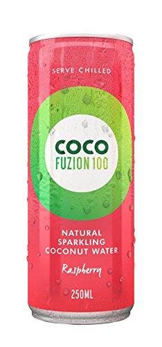 Coco Fuzion 100 Raspberry - 100 Prozent spritziges natürliches Kokoswasser 12'er Pack (12x 250ml)