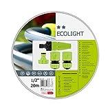 Cellfast Gartenschlauch SET Ecolight series Elastisch und flexibel 3-lagiger Wasserschlauch aus Polyesterkreuzgewebe, druck- und UV-beständig 20 bar Berstdruck, 20m, 3/4 zoll, 10-192