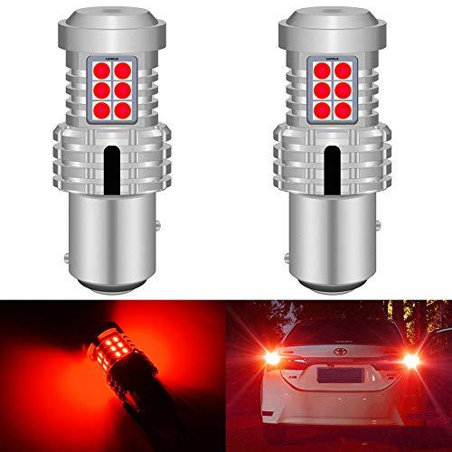 ZHENGYI 2pcs CANBUS 1157 BAY15D P21 / 5W LED Luces de Parada de Freno Ajuste para Ford Focus MK1 2001 Rojo Blanco T25 3157 P27 / 7W T20 7443 W21 / 5W Bombilla LED