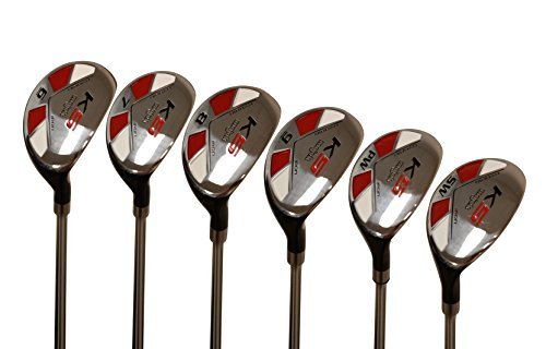 "Majek Senior Men's Golf All Hybrid Partial Set, which Includes: #6, 7, 8, 9, PW +SW Senior Flex Right Handed New Utility ""A"" Flex Club"