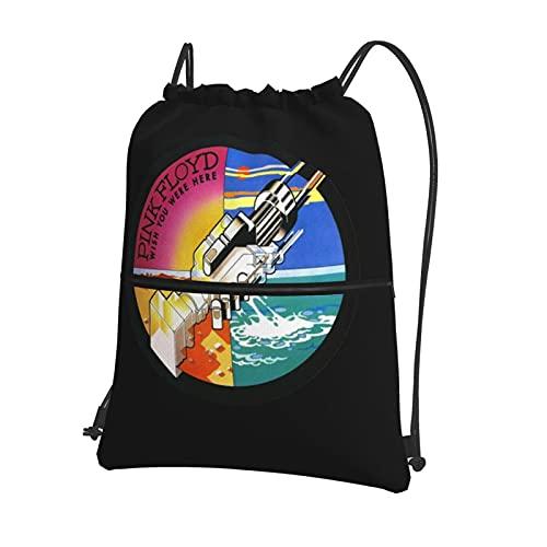 Pi-nk Fl-oyd - Mochila deportiva con cordón para mujer, bolsa de gimnasio, bolsa de natación grande con cremallera y bolsillos de malla, bolsa de polietileno, unisex