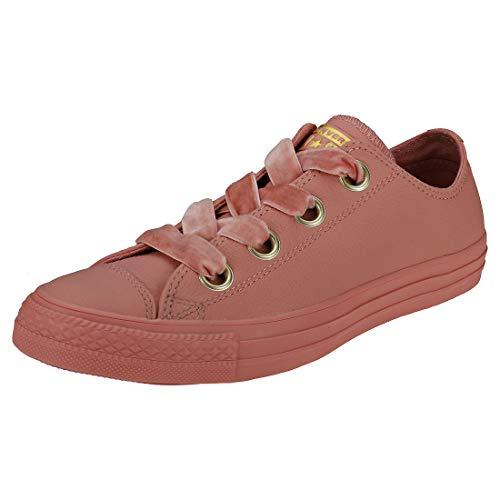 Converse Damen Chuck Taylor CTAS Big Eyelets Ox Sneakers, Mehrfarbig (Rust Pink/Rust Pink/Gold 668), 38 EU