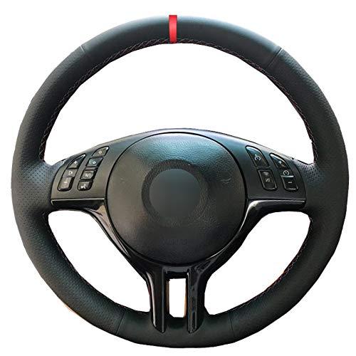 DHFBS Hand naaien auto stuurhoes, voor BMW E39 E46 325i E53 X5 Braid op het stuur antislip auto-accessoires