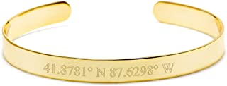 Engravable Gold Plated Women's Coordinate Cuff Bracelet, 6.5 inches