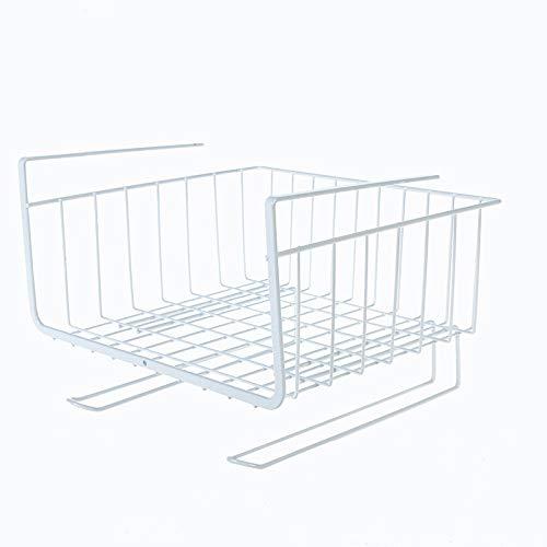 Storage Rack Kitchen Accessories Iron Cabinet Rack Table Hanging Basket Wardrobe Storage Cupboard Holder Sponge Holder Dish Rack (Color : White, Size : Free)
