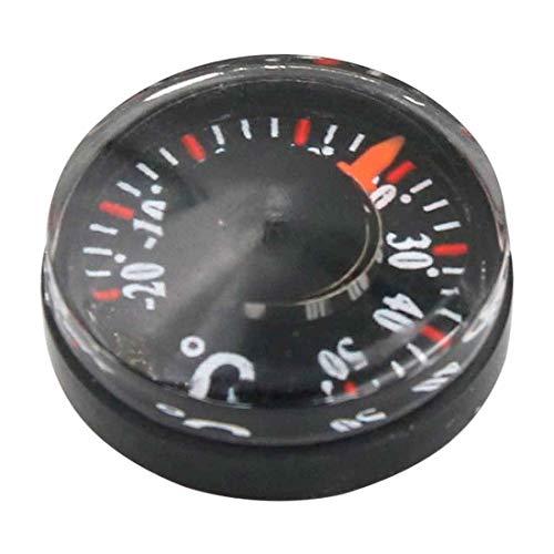 1 Unids Diámetro 20mm Plástico Redondo Mini Termómetro puntero Grados Celsius Termómetro