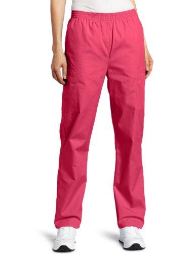 Dickies Scrubs Women's Petite Elastic Waist Pant, Hot Pink, Medium