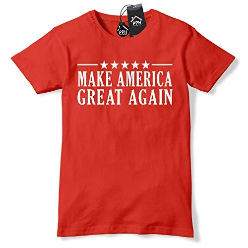 N/ A Stars and Stripes Make America Great Again T-Shirt Donald Trump Tee Baseball Cap USA Winner Republicans 474 XXL einfarbig