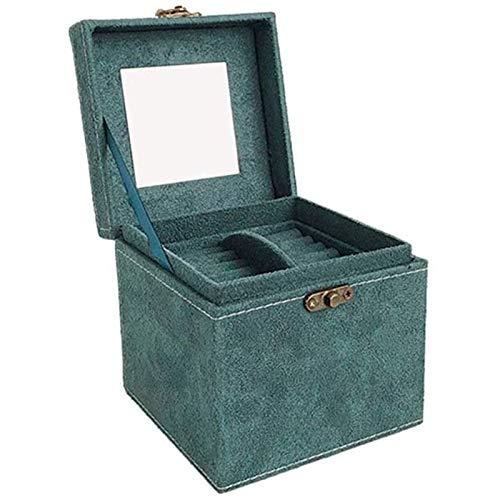 Oaisij Anillo de hebilla de la caja de almacenamiento del cuadro de almacenamiento del cuadro de almacenamiento del ornamento de espacio, usado para pendientes, collares, regalos de anillo a las niñas