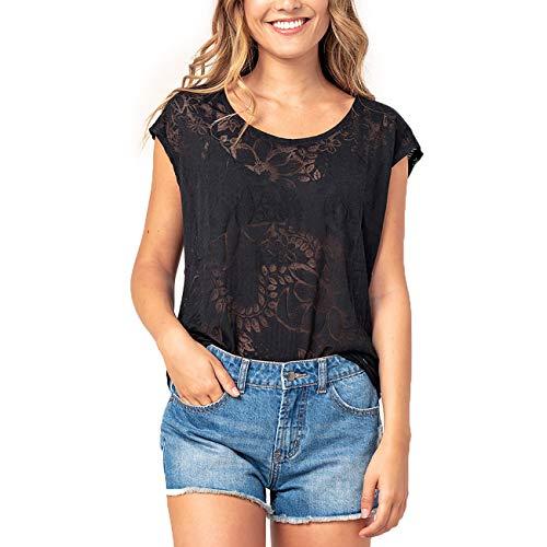 Rip Curl Camiseta para mujer Paradise Tee Negro XS