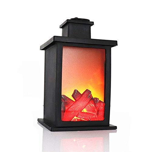Mallalah LED Lanterne Cheminée Minuteur Lampe Famme Effet Vacillant Fire Accessoires Maison Salon Soirée Fête Veille Lampe Cheminée