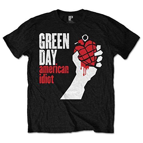 Green Day - American Idiot, T-shirt da uomo, Nero (black), M