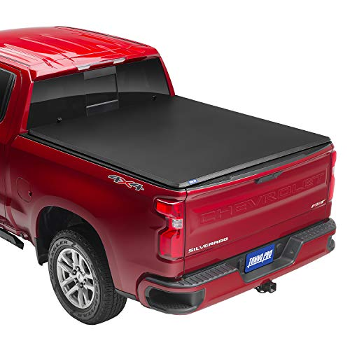 Tonno Pro Hard Fold, Hard Folding Truck Bed Tonneau Cover | HF-158 | Fits 2014-18, 19 Ltd./Lgcy GMC Sierra & Chevrolet Silverado 1500 6'6' Bed (78.8')