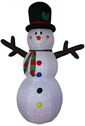 XXL Schneemann aufblasbar 240 cm LED beleuchtet Figur groß Weihnachten aussen