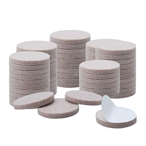 sourcing map 60pcs Felt Furniture Pads Round 1 1 8  Floor Protector for Chair Desk Closet Leg