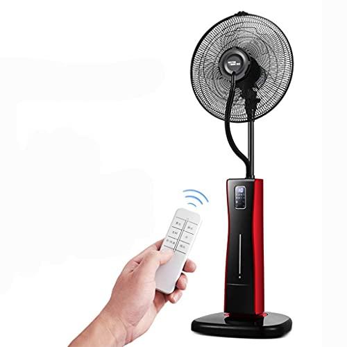 yanzz Ventiladores Ventilador de Servicio Pesado Potente nebulización para el hogar Ventilador de Piso de enfriamiento Oscilante Ventilador de Pedestal 3 velocidades 12h Temporización Ventilador p
