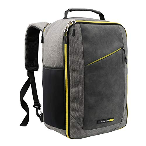 Cabin Max Manhattan Travel Bag | Ryanair Cabin Bags 40x20x25 | Underseat Stowaway Hand Luggage | Shoulder Bag | Weekend Backpack 20L