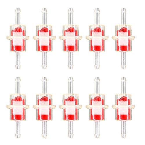 AISEN 10 Stück Kraftstofffilter Benzinfilter Klein Transparent für Motorrad 3/16