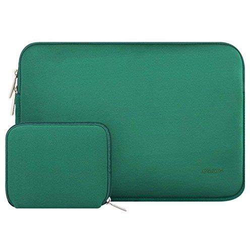 MOSISO Laptop Sleeve Kompatibel mit 15 Zoll MacBook Pro Touch Bar A1990 A1707, ThinkPad X1 Yoga, 14 Dell HP Acer, 2019 Surface Laptop 3 15, Wasserabweisend Neopren Tasche mit Klein Fall, Pfau Grün