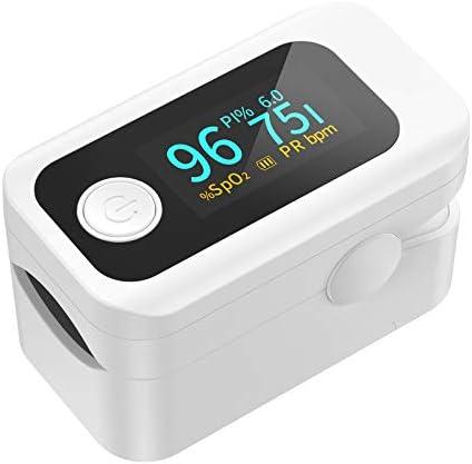 Oxímetro de pulso dedo profesional Wawech Pulsioximetro de Dedo con pantalla LED medidor de oxígeno en sangre portátil para adultos niños