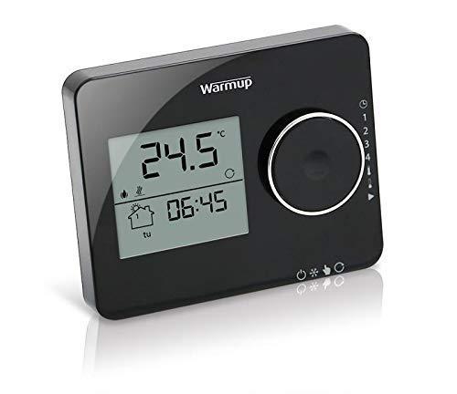 Warmup Digitales Thermostat für Fußbodenheizungen, Piano Black, 1 Stück