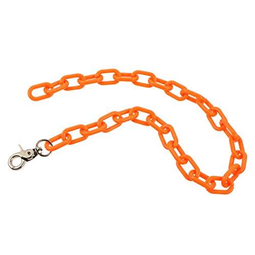 Amosfun Orange Hosen Kette Brieftasche Kette Jeans Hose Taille Kette Biker Trucker Gürtel mit Karabinerverschluss Hüfte Hop Tasche Schlüssel Kette Anhänger Punk Körper Kette für