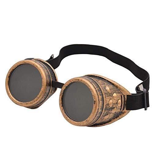 HYY-YY Brille Motorradbrille Steampunk Brille Sonnenbrille Antibeschlag und Antirash Linsen Sport, C