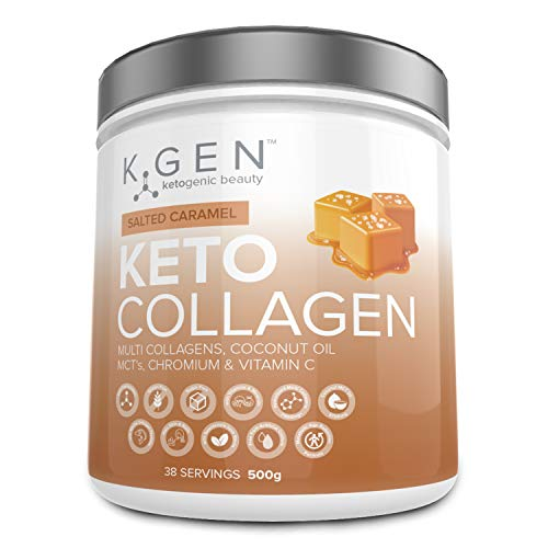 K-GEN Ketogenic Beauty | Keto Collagen Powder with 7500mg Multi Collagen Peptides, 3700mg Coconut MCTs & Vitamin C | for Ketogenic Diets to Develop Beauty from Within | Free-from Sugar & Gluten