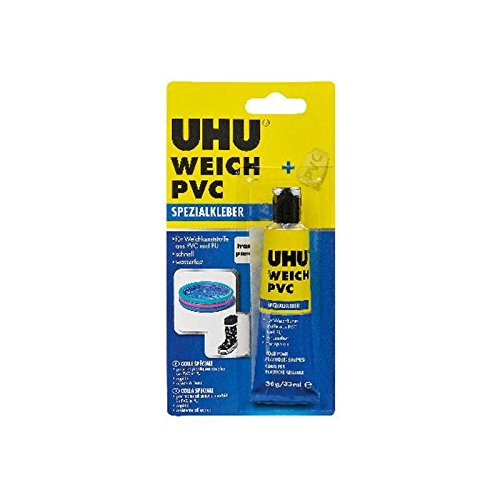 UHU Spezialkleber WEICH PVC 30g Tube Infokarte